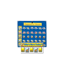 Whos Here Today Chart Attendance Multiuse Replacement Cards And Pocket Chart