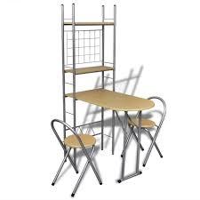Petite Table Dappoint Kitchenette Studio Avec Chaises Etagère