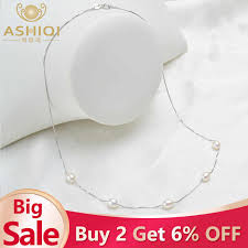 ASHIQI <b>Natural</b> Freshwater <b>Baroque</b> Pearl Necklace For Women ...