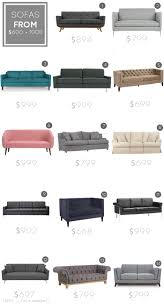 Small Picture Sofa roundup Under Emily Henderson Sofas Chairs