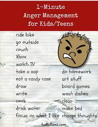 Anger management activities teens