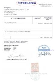 Proforma Invoice Presented Instead Of A Commercial Invoice