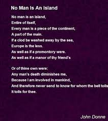 no man is an island poem by john donne poem hunter
