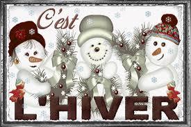 C'est l'hiver, 3 bonhommes de neige rigolos