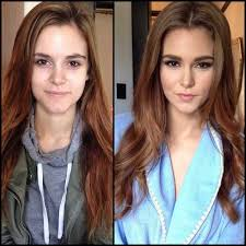 7 18 beautiful models before and after makeup