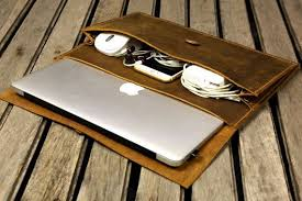 Handmade leather macbook sleeve case for 2019 macbook pro 13 ...