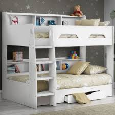 Kids beds with storage and desk Walmart Orion White Wooden Storage Bunk Bed Frame Only Happy Beds Kids Beds Beds For Children And Toddlers Happy Beds
