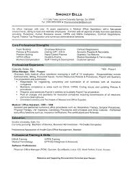 Resume For Office Manager Position Office Administrator Job Description Template