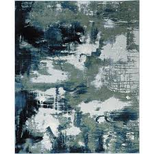 home decorators collection journey blue green 8 ft x 10 ft area rug
