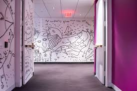 Inspiring innovative office Interior Design Installation View Of Work By Shantell Martin In Viacoms New York City Office Photo By Bwncycom Creative Office Spaces Designed To Spark Innovation Artsy