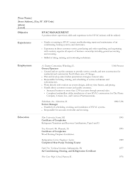 Hvac Resume Samples Resume Template Hvac Resume Examples Free Resume Template Format 18