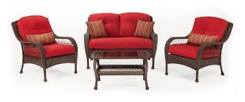 patio furniture sets. Seating - Bristol Patio Set (Scarlet Red, 4 Piece) Furniture Sets L