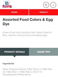 Mccormick Food Coloring Egg Dye Recipe Callistings Me