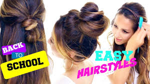 4 Incredibly CUTE \u0026 EASY Back-to-School Hairstyles | Quick Hair ...