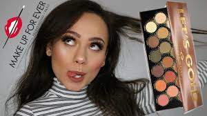 make up for ever let s gold palette review swatches tutorial