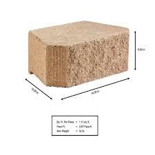 buff concrete retaining wall block