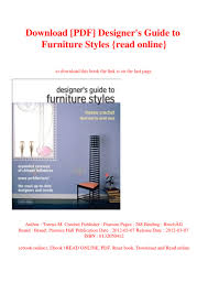 Designers Guide To Furniture Styles 3rd Edition Download Pdf Designers Guide To Furniture Styles Read