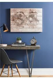 wooden world map wall art by art
