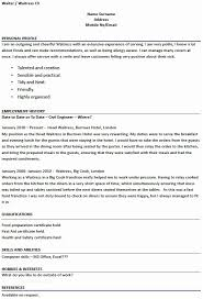 Waiter Resume Examples Best Waitress Resume Samples Waiter Resume Sample Ambfaizelismail