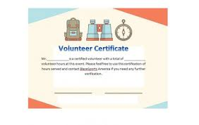 50 Free Volunteering Certificates Printable Templates