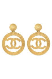 chanel earrings. vintage chanel cc cambon earrings by wgaca