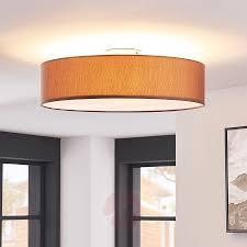 Deckenleuchte Sebatin Mit E27 Led 50 Cm Braun Lampenweltat