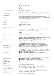 Chef Cv Template Chef Cv Template Download Dayjob