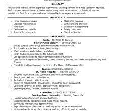 Janitorial Resume Custodial Supervisor Examples School Head