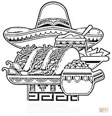 Small Picture Mexican National Food coloring page Free Printable Coloring Pages