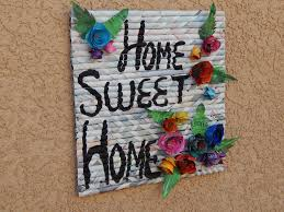 picture of sweet home paper wall hanging art