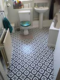 Mum Updates Her Drab Grey Bathroom Floor Using 14 Tile Stickers From Dunelm After She Didn T Have Time To Stencil