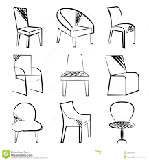 simple chair drawing. Exellent Drawing Chair Collection In Simple Drawing