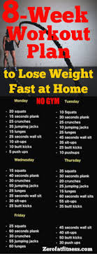 8 Week Workout Plan To Lose Weight Fast At Home With No Gym