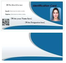 Identification Template Employee Id Card Template Lucassportportal Info