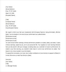 Termination Letter Sample For Poor Performance Rome