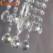 energy saving led luxury crystal chandelier simple small aisle stair hallway k9 ceiling lamp