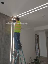 Đèn led thanh nhôm profile âm trần giá rẻ - thanh nhôm led âm trần thạch  cao- đèn led thanh nhôm