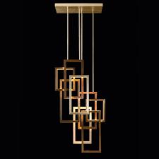 geometric modern italian designer vertical chandelier