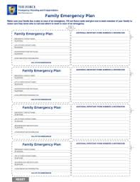 Family Emergency Plan The Force