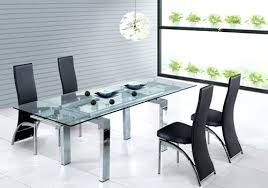 modern glass dining table sets incredible ideas modern glass dining table with regard to remodel caesar
