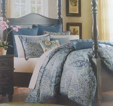 harbor house belcourt full queen duvet cover paisley blue green regarding decorations 5