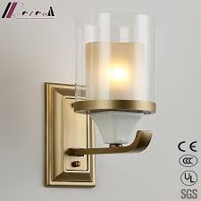 modern bronze wall lights reading lamps wall sconce with glass lamp shades for living room