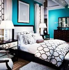 beautiful teal and black bedroom at this is maybe not the walls but as an