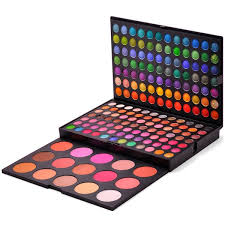 amazon fantasyday pro 183 colours eyeshadow palette makeup cosmetic contouring kit bination with blusher concealer ideal for professional and