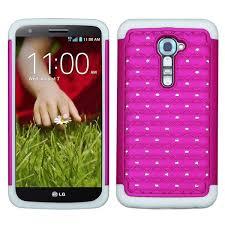 verizon lg phone cases. lattice dazzling hybrid case for lg g2 (verizon) - pink/white $6.95 www verizon lg phone cases