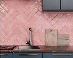pink kitchen bathroom wall tile