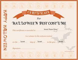 Best Certificate Templates Halloween Contest Winner Certificate Template Halloween Costume