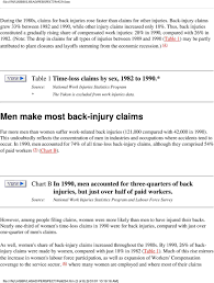 Workers Compensation Injury Chart Back Injuries At Work Pdf