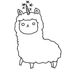 Picture Find Printable Free Printable Pajama Coloring Pages Llama