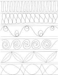 Quilt Border Patterns Unique Printable Hand Quilting Designs Templates Free Template Design